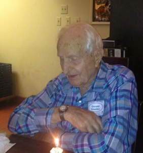 Uncle Donald on his 105th birthday.