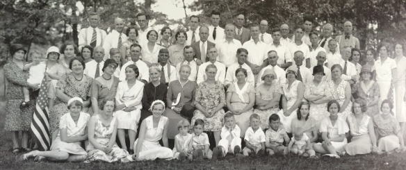 My father, the young man in the third row. Uncle Donald, tall one in the back row with the hair.